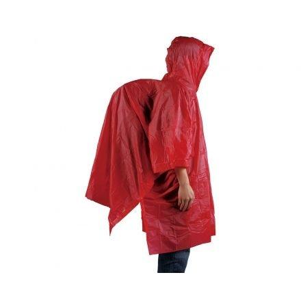 Ace Camp regenponcho herbruikbaar rood