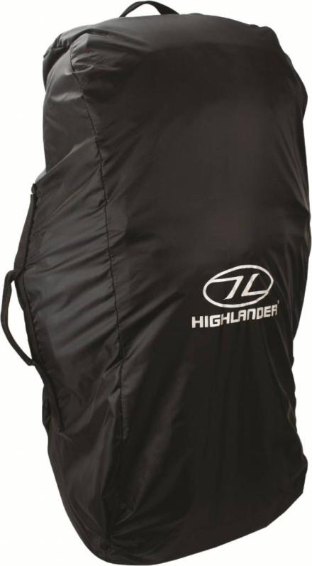 Highlander Combo cover 80-100l flightbag en regenhoes zwart