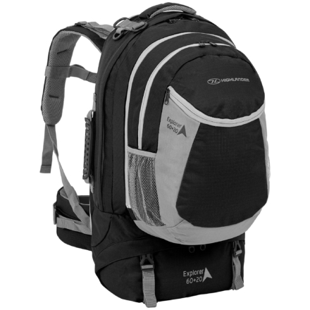 Highlander Explorer 60+20l travelpack zwart