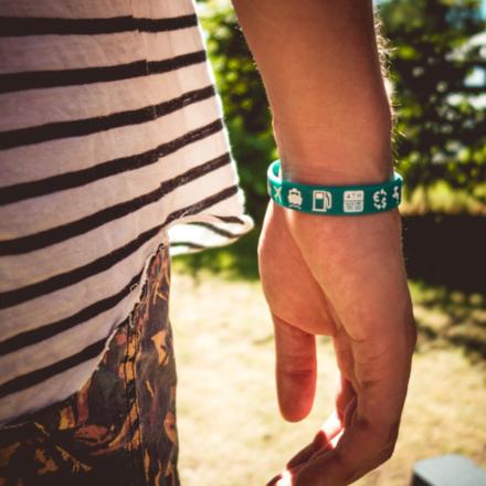 Ik ga op avontuur Travel bracelet (large) reisbandje icons groen