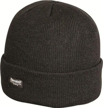 Highlander Thinsulate muts ski hat unisex zwart