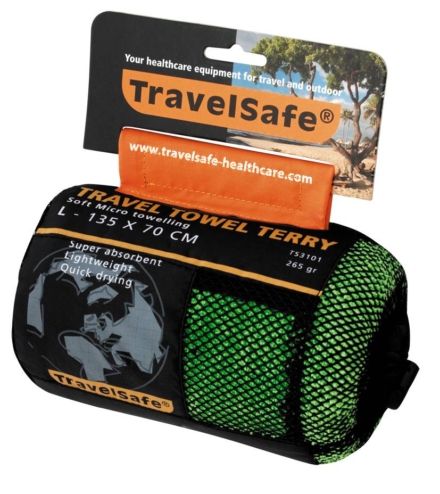 Travelsafe Microvezel reishanddoek L 70 x 135 cm Groen