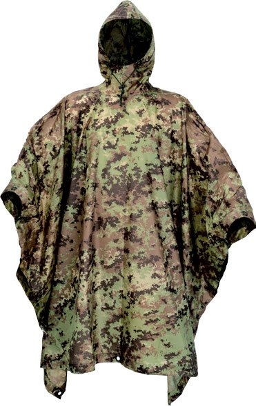 Defcon 5 Poncho camouflage vegetato italiano