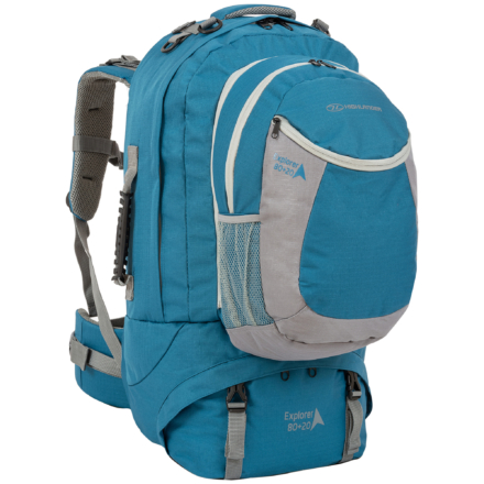 Highlander Explorer 80+20l travelpack backpack blauw