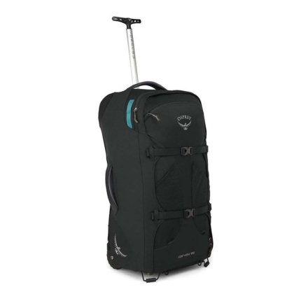 Osprey Fairview Wheels 65l travelpack convertible dames zwart O/S