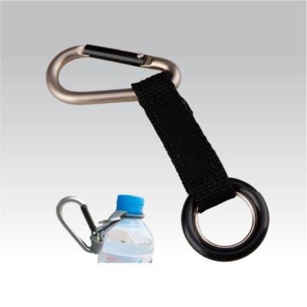 Munkees Karabijnhaak met flessen ring PET flessen drager