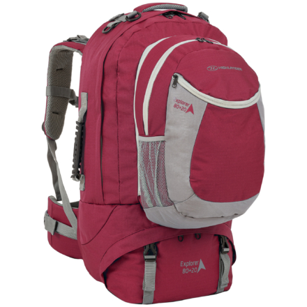 Highlander Explorer 80+20l travelpack backpack rood