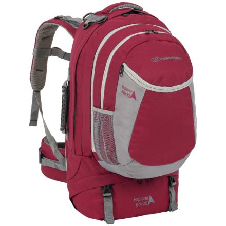 Highlander Explorer 60+20l travelpack backpack rood