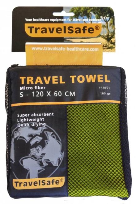Travelsafe Reishanddoek S 60 x 120 cm Lime groen