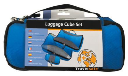 Travelsafe Packing cubes set van 3 blauw