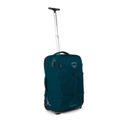Osprey Farpoint Wheels 36L handbagage trolley convertible rugzak heren Petrol Blue O/S