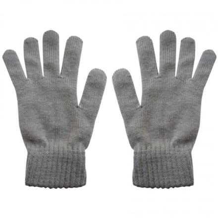 Highlander Merino wollen handschoenen 100% merino wol gebreid grijs