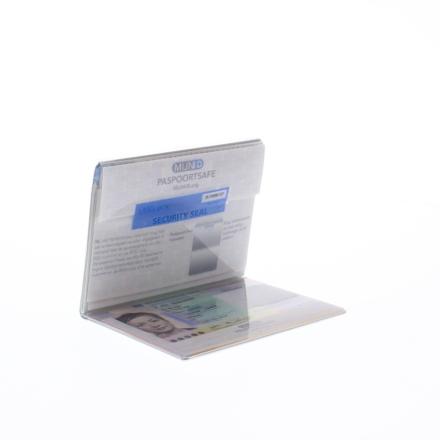 MijnID Paspoortsafe paspoorthoesje met RFID blokkering en verzegeling wit