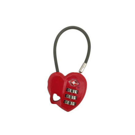 Munkees TSA slot -cijferslot in hartjesvorm