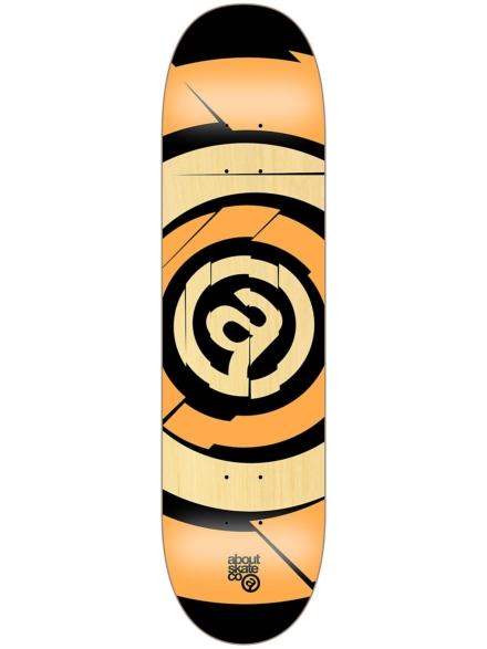 "About Target Team 8.25"" Skateboard Deck oranje"