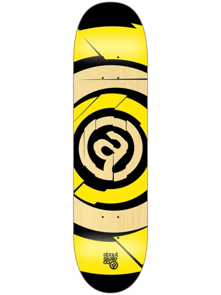 "About Target Team 8"" Skateboard Deck geel"