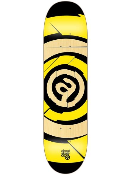 "About Target Team 8"" Skateboard Deck geel"