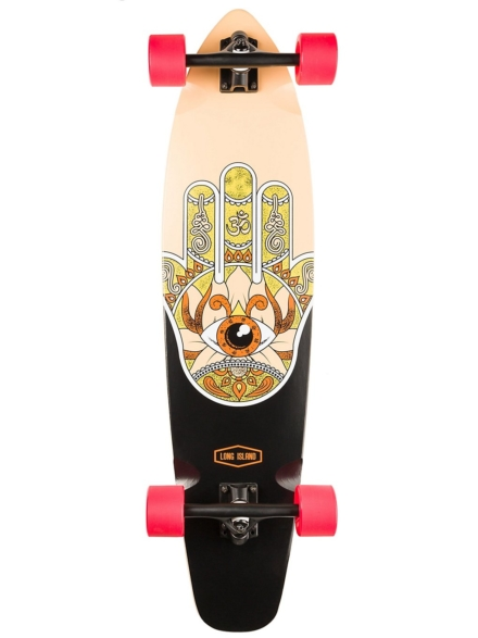 "Long Island Longboards Raise 37"" Essential Kicktail Complete patroon"