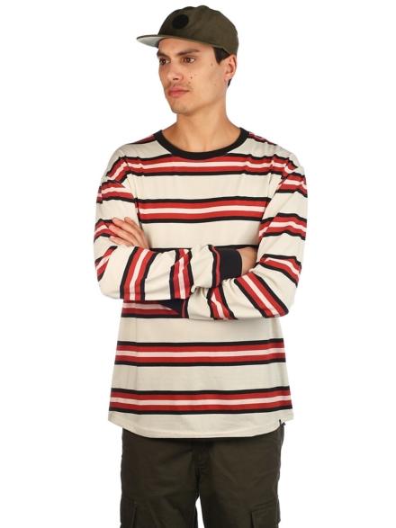 Zine Newbie Stripe Longsleeve T-Shirt grijs