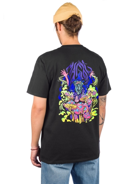 A.Lab Magic Mushrooms T-Shirt zwart
