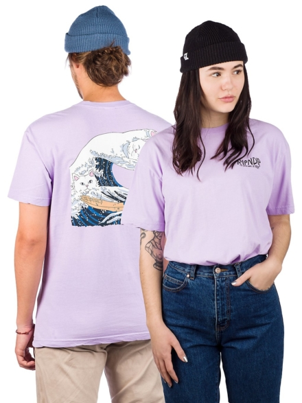 RIPNDIP Great Wave T-Shirt paars