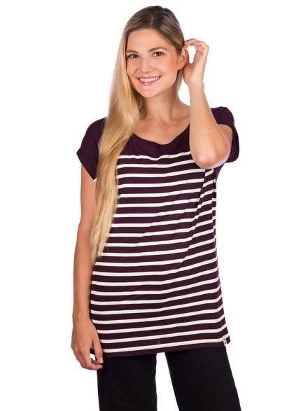 Iriedaily Cat Stripe T-Shirt paars
