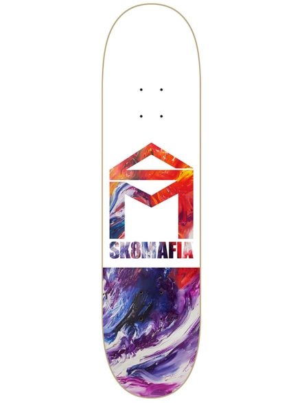 "SK8 Mafia House Logo Oil Low 8.0"" Skateboard Deck patroon"
