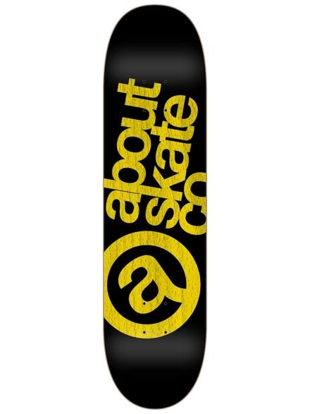 """About Monochrome 3Co 7.825"""" Skateboard Deck geel"""