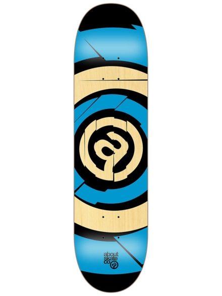 "About Target Team 7.875"" Skateboard Deck blauw"