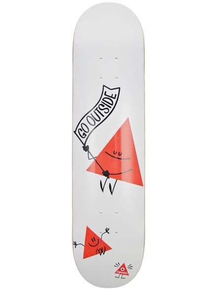 """Inpeddo Triangle 7.75"""" Skateboard Deck wit"""
