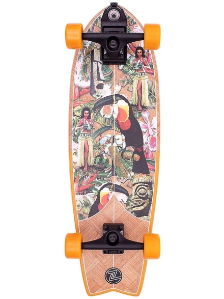 "Z-Flex Banana Train Fish 31"" Surfskate oranje"