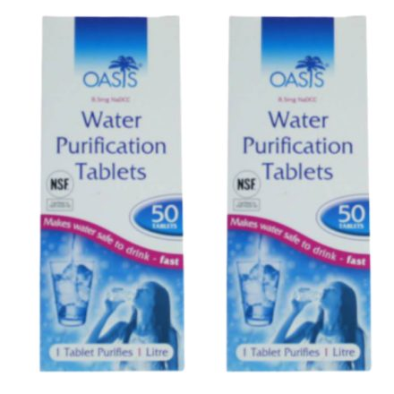 Oasis Voordeelpak: 100 waterzuivering tabletten 100 liter