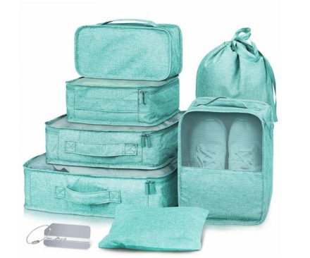 DreamTravel Packing cubes organiser set van 7 mintgroen