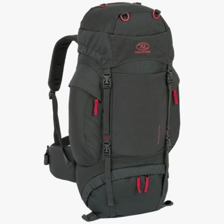 Highlander Rambler 44l backpack unisex charcoal