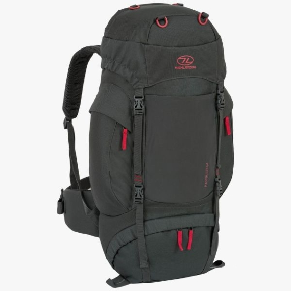 Highlander Rambler 44l backpack unisex charcoal