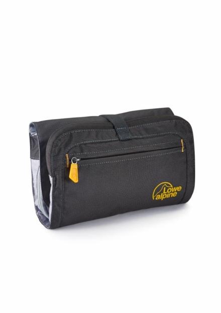 Lowe Alpine Roll up wash tas -reistoilettas ophanghaak en spiegel zwart